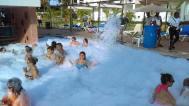 Foam party in the Hotel. Fiesta de burbujas en el Hotel.